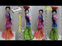 DIY II Amazing Indian Doll making with newspaper II Newspaper craft - YouTube