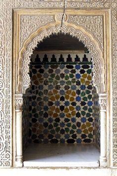 Salón de los Embajadores en el complejo Royal. Alhambra, Granada, España