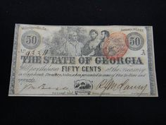 Lot 96: Georgia Confederate Currency - 50 Cents - Chumney House Auctions, LLC | AuctionZip