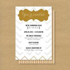 Bridal Shower Invitation -- Triangles