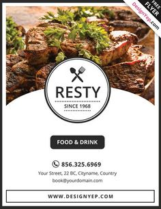 Download Free Restaurant Menu PSD Flyer Template - Free Flyer Templates & PSD Club Flyer Design - Download Freebies on FreePSDFlyer