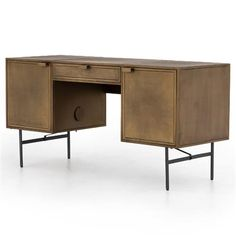 Constructed from iron Industrial Loft, Industrial Lighting, Industrial Furniture, Yellow Desk, Urban Loft, Office Furniture, Office Desk, Loft Style, Built In Storage
