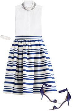 """""""blue + white"""" by theblondeprep ❤ liked on Polyvore"""