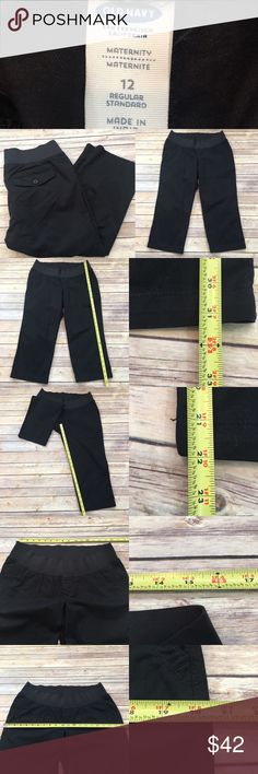 🌷Old Navy 12 Maternity Black Stretch Capri Pants Measurements are in photos. NEVER WORN, no flaws. D3/27  I do not comment to my buyers after purchases, due to their privacy. If you would like any reassurance after your purchase that I did receive your order, please feel free to comment on the listing and I will promptly respond. I ship everyday and I always package safely. Thanks! Old Navy Pants Capris