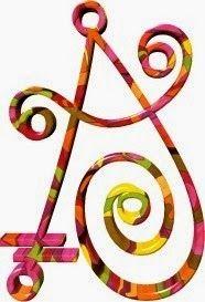 Alfabeto psicodélico con toque hippy.