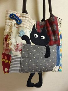 handmade bags 17 Ideas For Patchwork Clothes Textile Art Patchwork Fabric, Patchwork Bags, Quilted Bag, Patchwork Ideas, Crazy Patchwork, Patchwork Patterns, Fabric Bags, Fabric Scraps, Fabric Purses