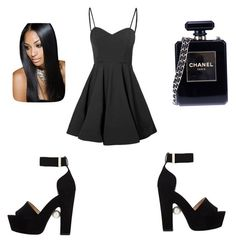 In the car!! by gottalottaprada on Polyvore featuring polyvore, fashion, style, Glamorous, Nicholas Kirkwood, Chanel and clothing