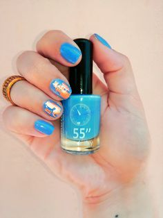 """Summer 2018 beach nail art. PRODUCTS USED :  ★ Dorothy L 55"""" Quick Dry nail polish no. 318 by @dorothylcosmetics  ★ Nail Art  Gel Foil Stickers Transfer Tips by @wish  ★ White Peel Off Liquid e Latex Palisade For Easy Clean Base Gel Coat by @ebay  Follow me on my social media:  ★Instagram: @stellatnaildesigns  ★Facebook: Stella T nail designs  ★Youtube: Stella T  #stellatnaildesignes #nailart #nailpolish #instanails #beach #summer #summer2018 #dorothylcosmetics #dorothyl #eBay #wish Quick Dry Nail Polish, Dry Nails Quick, Beach Nail Art, Beach Nails, Gel Nail Art, Latex, Nailart, Nail Designs, Social Media"""