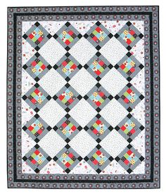 Additional Images of Licorice & Strawberries Quilt Kit by Mari Martin - ConnectingThreads.com