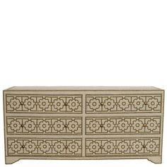 George Linen 6-Drawer Chest - Natural  Ruby Star Traders