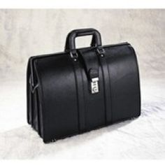 Bellino Bellino Lawyer Leather Laptop Briefcase; Brown