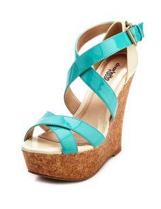 5fe9f8e6cb919 Patent Color Block Wedge Sandal  Charlotte Russe  36 Wedge Sandals