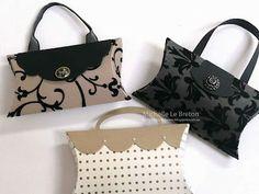 Lindos bolsos hechos con cajas almohada.