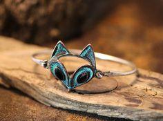 Retro Fox Bracelet Antique Style Animal Bangle Women's Jewelry Open Wrap #authfashion