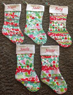 Vicki's Fabric Creations: Cuffed Christmas Stocking tutorial ready for download