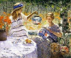 Helen Maria Turner ~ Lilies, Lanterns and Sunshine ~ (American: 1858-1958)