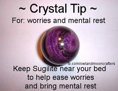 for worries & mental rest-Get crystals here: https://www.etsy.com/ca/shop/MagickalGoodies