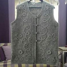 Ins ve yunlerim – Design Crochet Baby, Knit Crochet, Baby Dress Patterns, Knit Vest, Moda Emo, Loom Knitting, Knitting Designs, Sweaters, Dresses