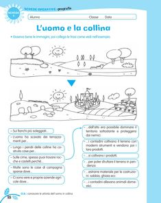 luni e tuni Geography For Kids, Italian Language, Learning Italian, Writing Skills, Problem Solving, Homeschool, Teacher, Science, Education