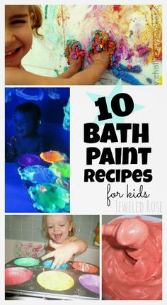 10 bath paint recipes for kids playtime even glow in the dark paint