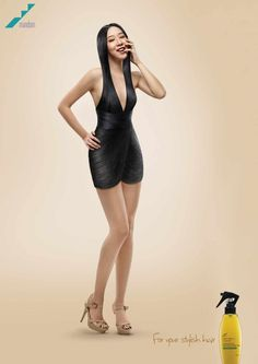 [3/3] Convertir el pelo en vestido. Esto fue lo que hizo este anunciante para promocionar los beneficios de su producto.