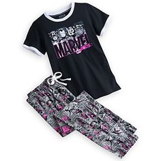 Pantalones de pijama con estampado de icono de repetici/ón de Marvel Recuperado