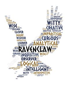 Harry Potter Hogwarts House Word Cloud by JustSayinCollection