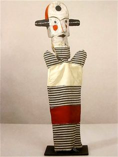 "Paul Klee, ""Untitled"" (Big Eared Clown), Toys of the Avant-Garde exhibition. Harlem Renaissance, Shadow Puppets, Hand Puppets, Sophie Taeuber Arp, Paul Klee Art, Marionette Puppet, Puppet Making, Bauhaus, Pablo Picasso"