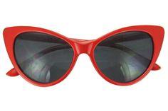 Red Vintage Cat Eye Sunglasses