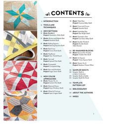 Table of Contents from Vintage Quilt Revival
