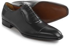 A. Testoni Cap-Toe Oxford Shoes - Leather (For Men)