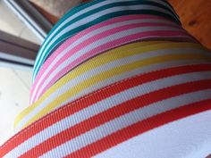 Candy stripe ribbon Cute Headbands, Candy Stripes, Pretty And Cute, Grosgrain Ribbon, Ideas, Thoughts