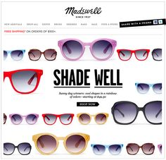 """Nice layout idea for a single category of products // """"Shade Well"""" from the Madewell catalogue"""