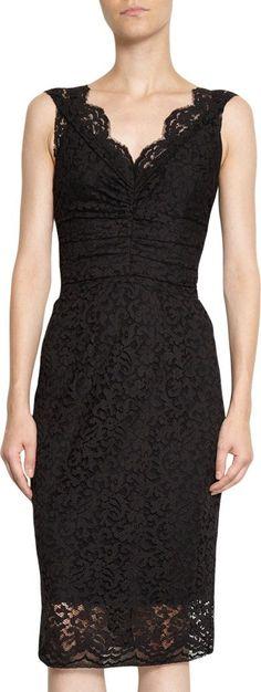 f695cbef456f Dolce   Gabbana Net Lace Sleeveless Dress at Barneys.com Beskedne Kjoler