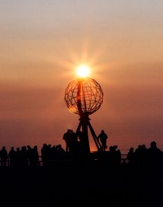 Nordkapp through the eyes of hampshiregirl - Northernmost point of Europe. Midnight Sun - Different perspective