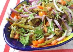 The grilled cactus is delicious as is, but even more so when mixed with a few fresh ingredients for this ensalada recipe. Mexican Cooking, Mexican Food Recipes, Ethnic Recipes, Spanish Recipes, Mexican Salads, Mexican Dishes, Pasta Recipes, Salad Recipes, Salads