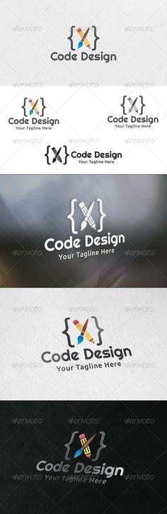 Code Design  - Logo Design Template Vector #logotype Download it here: http://graphicriver.net/item/code-design-logo-template/6331857?s_rank=1738?ref=nexion