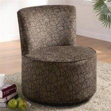 Coaster 902003 Round Swivel Accent Chair, Swirly Print