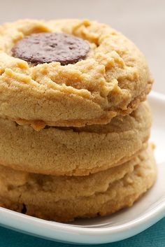 Peanut Butter Cookies with Chocolate Wafers add a touch of rich chocolate to that irresistible classic cookie. - Bake or Break