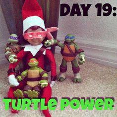 Elf on the shelf ninja turtles