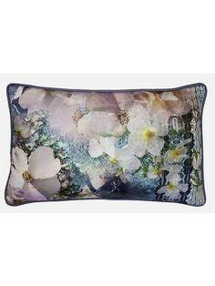 Tile Floral 30x50cm feather cushion