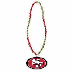 San Francisco 49ers Mardi Gras Party Beads Necklace by NFL. $5.25. Whether you're going to Mardi Gras, a Party, or the Game, these colorful beads with team logo medallion will show off your team spirit!  Also makes a great gift for that crazy 49ers fan!!