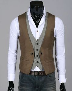 casual double layered Waistcoat