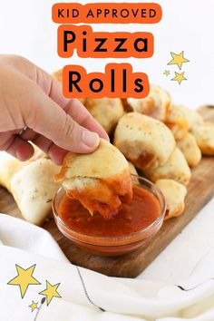 Kid-Approved Baked pepperoni pizza rolls are easy to make, and a great way to combine two of your favorite foods. All you need is some dough, pepperoni slices, mozzarella cheese, marinara sauce, melted butter, and Italian herbs. You can even add some Parmesan cheese if you want! These pizza rolls will be a hit with the whole family. Gourmet Appetizers, Appetizers For Party, Appetizer Recipes, Snack Recipes, Toddler Snacks, Easy Snacks, All You Need Is, Pizza Rolls, Pizza Pizza