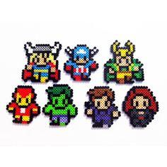 Marvel Avengers perler beads by lilites