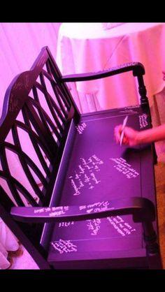 Wedding guest book chair