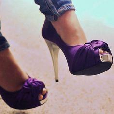 mardi gras purple shoes