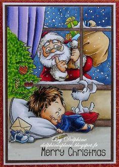 Santa's Coming Tonight! Sky: B95, 97 Skin: E000, 00, 11 Santa's Hair: C0, 1, 3 Henry's Hair: E49, 55, 59 Santa's Outfit:  R35, 37, 39, 89, W1, 3, 5 Henry's Out...