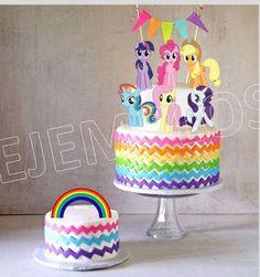 My Little Pony Cake Ideas – Ponies Cake (Printable Cake Toppers) Twilight Sparkle, Pinkie Pie, Rainbow Dash, Rarity, Fluttershy, Applejack, Unicorn, Spike, Equestria, Ponyville, Princess Celestia, Nightmare Moon