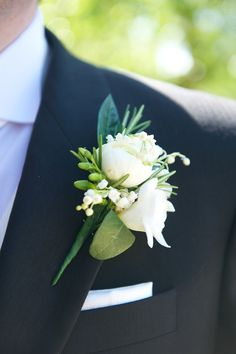 Beautiful Mens Wedding buttonhole Flowers - As it is that touching moments and magic happen, having a great wedding rings is as critical as choosing the. Buttonhole Flowers, Groom Buttonholes, Wedding Buttonholes, White Boutonniere, Groomsmen Boutonniere, Boutonnieres, Corsage And Boutonniere, Wedding Groom, Wedding Men